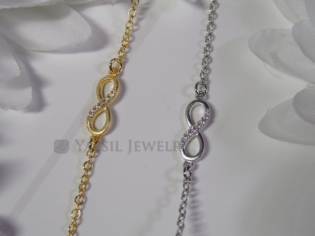 small infinity pendant necklace cz infinity small charm