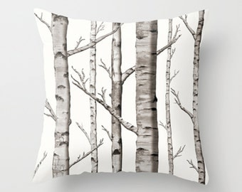 Birch Grove Pillow Cover Custom sizes and colors available