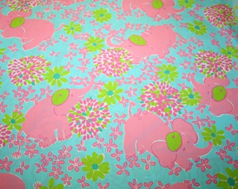 "Lilly Pulitzer fabric ~ ELEFRANCE~ 18"" by 18""~ 100% Cotton"