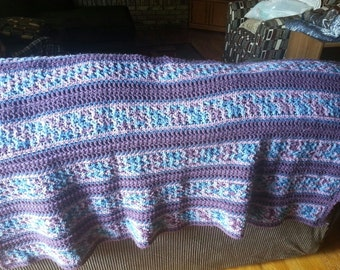 Made To Order Crochet Striped Afghan