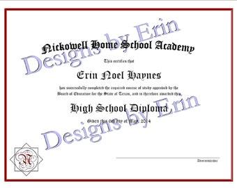 Customized Homeschool Diploma