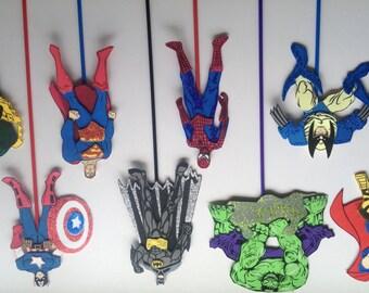 Superheros Party Centerpiece Picks, Superhero Birthday Party Decoration.