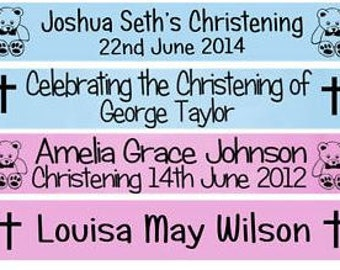 Luxury Personalised Christening Banner for Baptism, Christening or Confirmation
