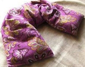NECK SHOULDER PILLOW Wrap - hot or cold therapy - herbs inside - flax seed