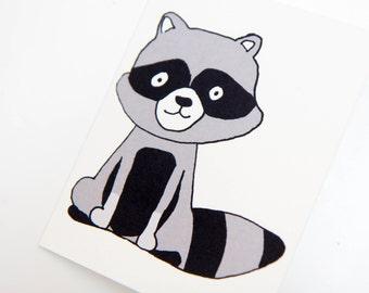 Handmade Raccoon Card