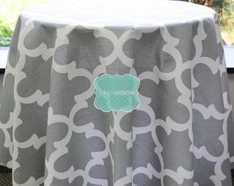 Tablecloth - Premier Prints - FYNN - Ash - Choose Your Size - Table Linen Wedding Home Decor Dining Kitchen