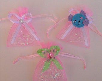 Baby shower favors, candy bags, girl baby shower