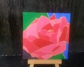 Abstract Acrylic Rose Painting