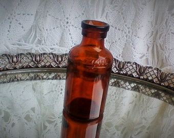 Vintage Lysol Bottle - Brown Glass
