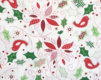 Stylized Poinsettias Fabric
