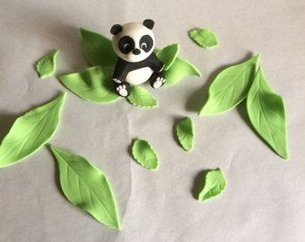 Panda & Leaves Toppers