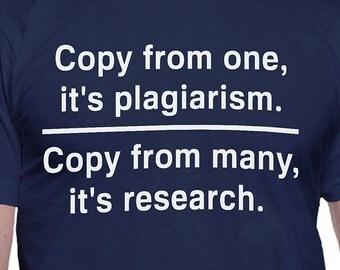Plagiarism Versus Research T-Shirt