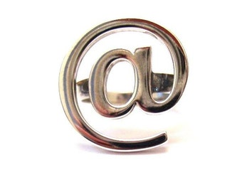 Sterling Silver 925 Ring @ At Symbol
