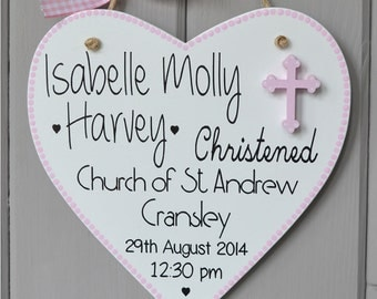 Personalised Christening plaque. Personalised baby girl gift and Keepsake.  Baptism plaque