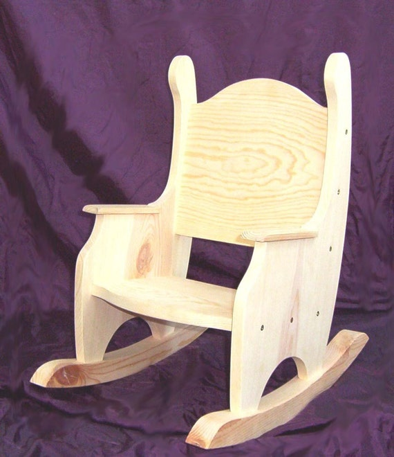 Childs Rocking Chair Unfinished Pine w/o by CountryArtisanGifts