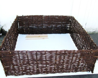 """Deep Woven Willow Raised Bed, 48""""w x 48""""l x 18""""h, WRB-44"""