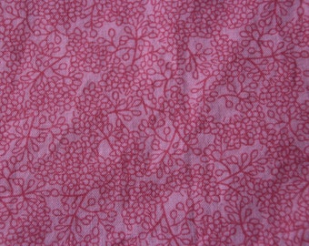 Baby Crib Sheet or Toddler Bed Sheet - Pink with Tiny Twig/Leaf Pattern