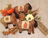 Fall themed primitive sheep bowl fillers