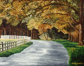 Fine Art Matted Print - Golden Path by Bonnie Brooks