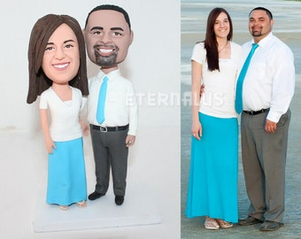 Custom Bride and Groom Cake Toppers Personalized from your Ideas and Photos, Polymer Clay figurine, Wedding Cake Topper