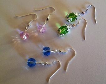 Set of 3 Pairs Bead Earrings