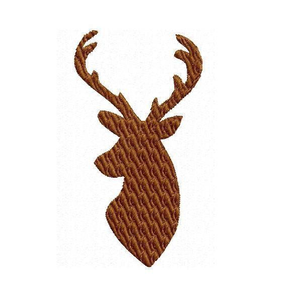 Deer buck head embroidery design instant download