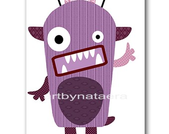 Monster Nursery Print Kids Art Digital file Children Art Kids Wall Art Baby Boy Nursery Art Baby Boy Room Decor 8x10 11X14 INSTANT DOWNLOAD