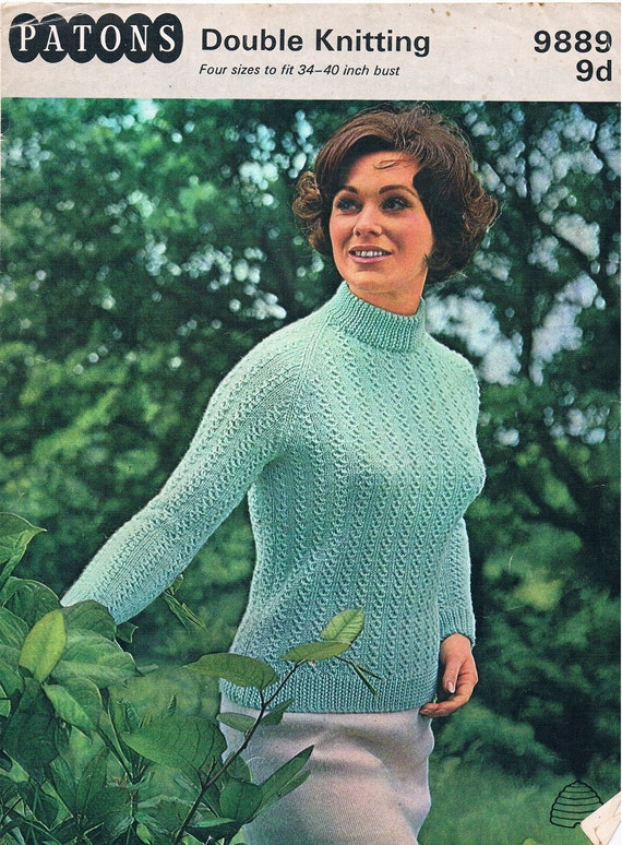 Knitting Sweater Design Book Pdf : Vintage knitting pattern pdf s patons double