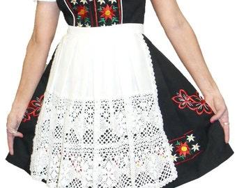3-Piece Short Black German  Dirndl Dress 2 4 8 10 12 14 16 18 20 22 24 S M L XL 2XL