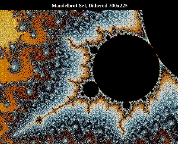 Dithered Mandelbrot Set Fractal -- Counted Cross Stitch Chart Patterns, 2 sizes!