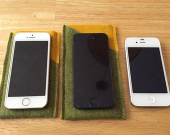 Felted iPhone/iPod Cases w/ pocket