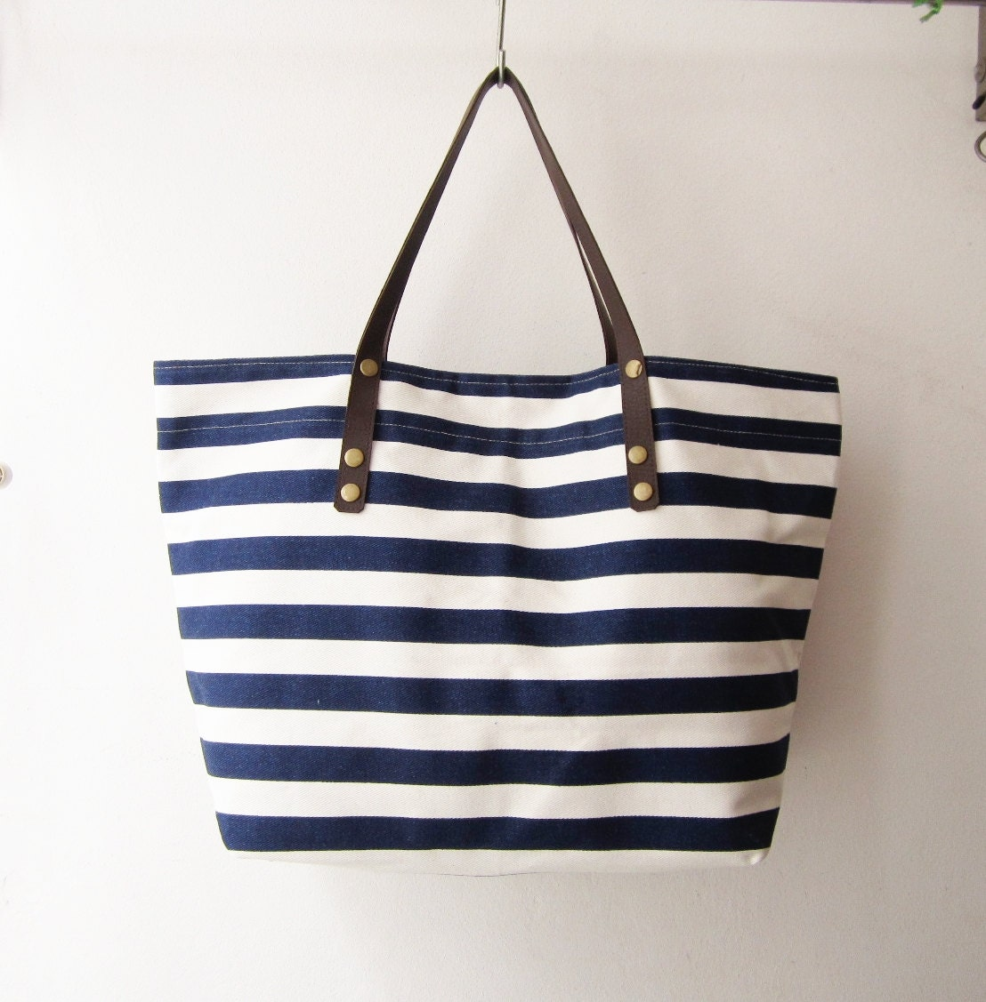 stripes canvas tote bag beach bag oversized shopping bag