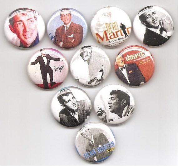 Dean Martin Singer Actor Comedian 10 Pins Button Badge Pinbacks
