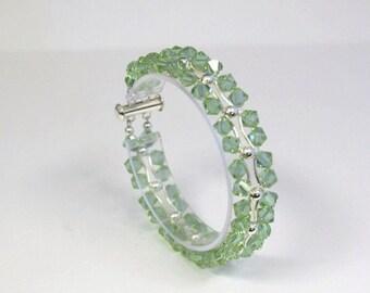 Swarovski Crystal Bracelet Cantelope Green Color Changing  Bracelet - BRCR-2