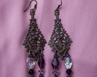 Decorative Bronze Earrings