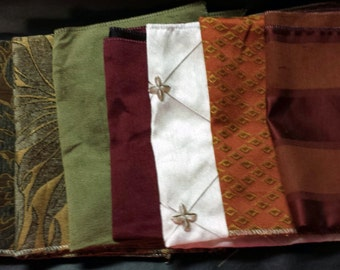 Set of Seven- 17in x 17in Upholstery fabric Squares- A015