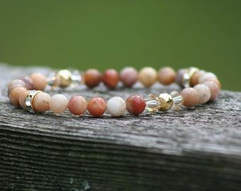 "Morocco Agate Gemstone Bracelet ~ 7"""