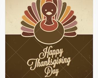 Turkey Thanksgiving Fall Vector Background