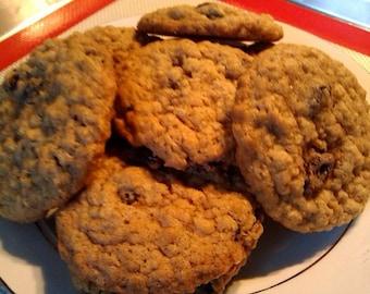 A Pound of Homemade Oatmeal Raisin Cookies