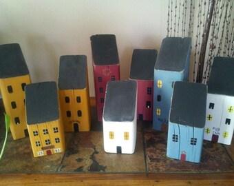 Block Saltbox Houses