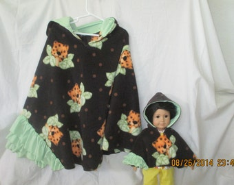 Matching cape for girl and american girl