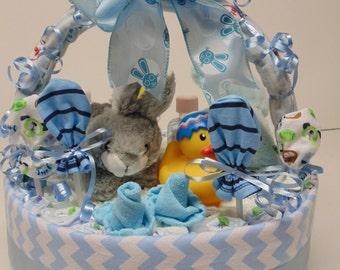 Diaper Cake Basket for Boys
