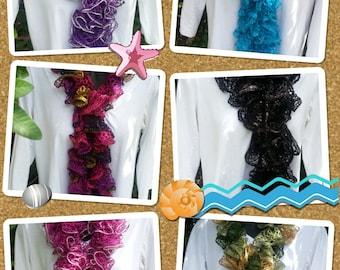 Handmade ruffle fashion scarf