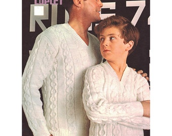 Cricket Sweater for Father & Son Double Knitting - Coats Copley 112