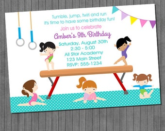 Gymnastic Invitations