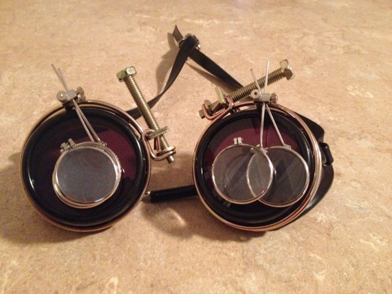 Steampunk Red Baron Goggles by HannibalHaberdashery on Etsy