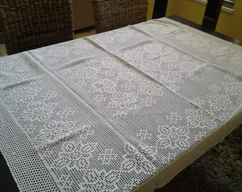Crochet knitted tablecloth, great table decor