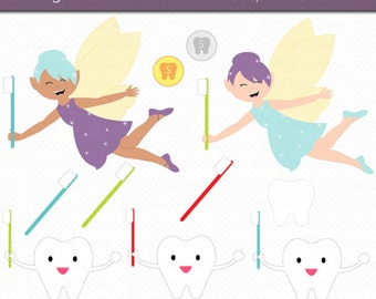 Tooth fairy clipart | Etsy