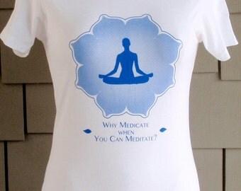 Yoga t-shirt  Easy Pose on White
