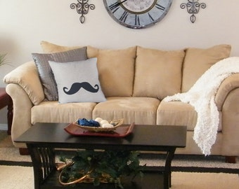 Mustache Pillow Cover